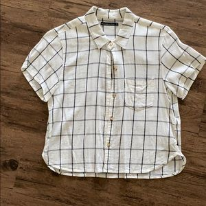 Abercrombie cropped Button Up